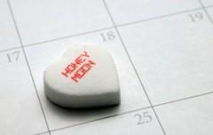 Maandplanner huwelijksreis - beste reistijd voor honeymoon - datum in kalender