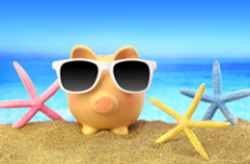 spaarvarken voor kortingscodes en actiescodes voor op vakantie, bijvoorbeeld vliegtickets en (rond)reizen