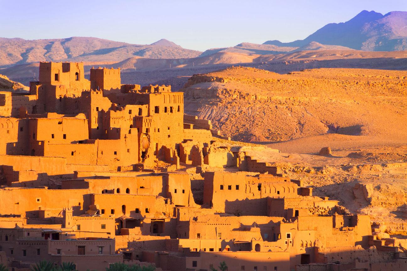 Het prachtige uitzicht over de stad in Marokko