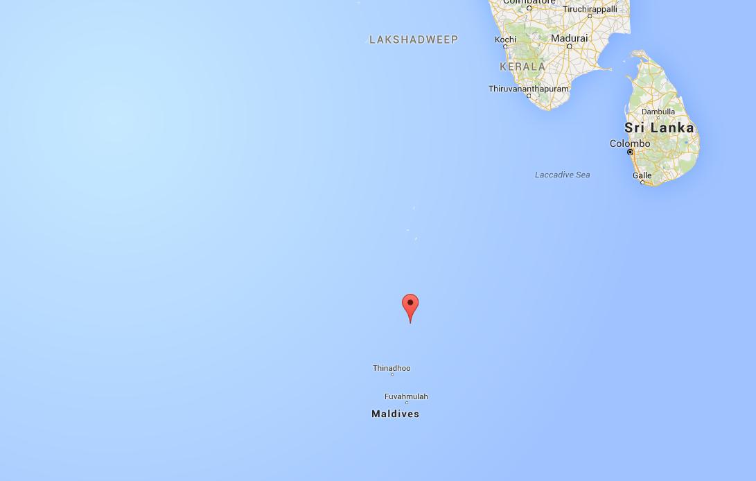 De Malediven op de kaart