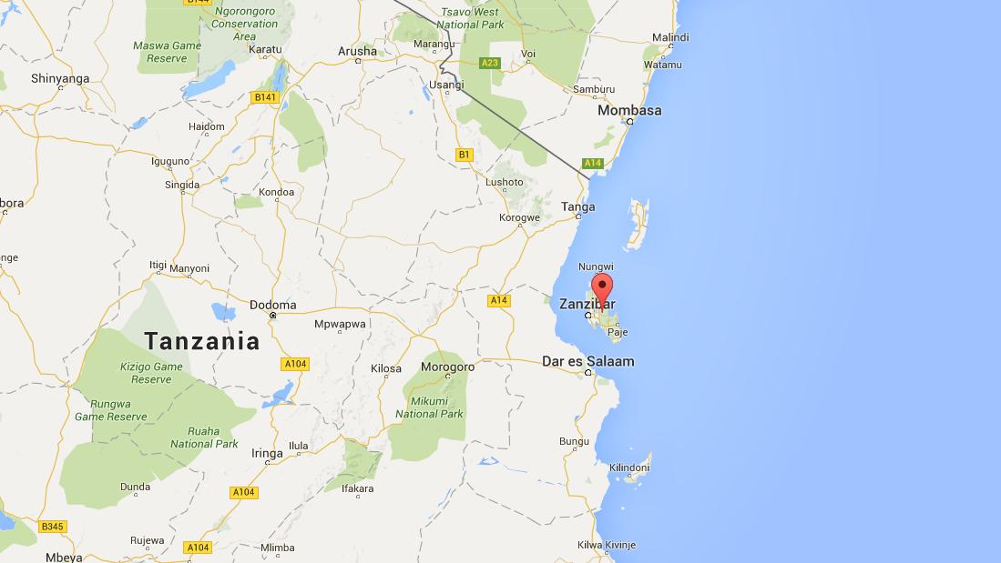 Zanzibar op de kaart