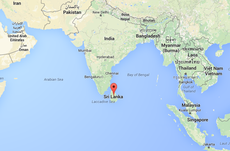 Sri Lanka op de kaart