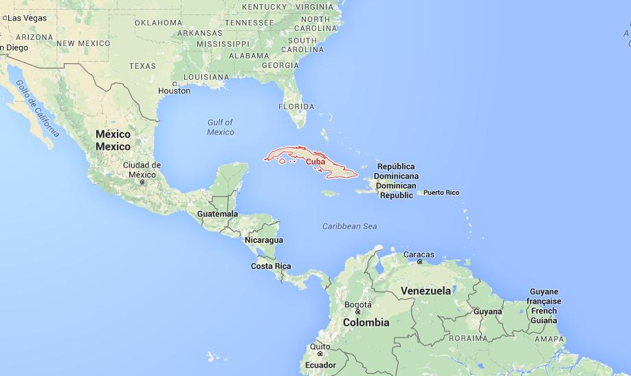 Cuba op de kaart