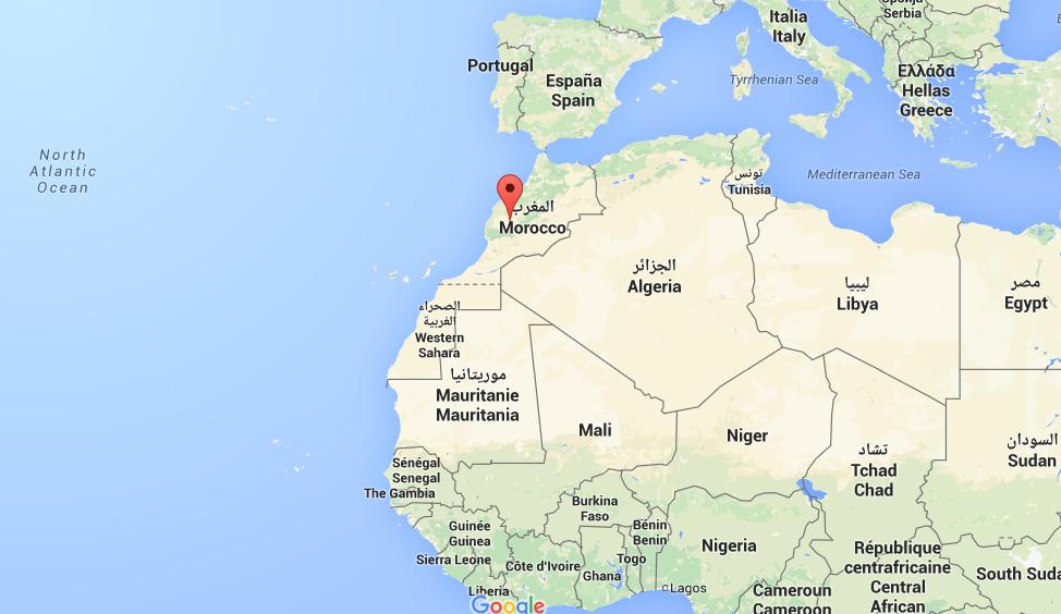 Marokko op de kaart