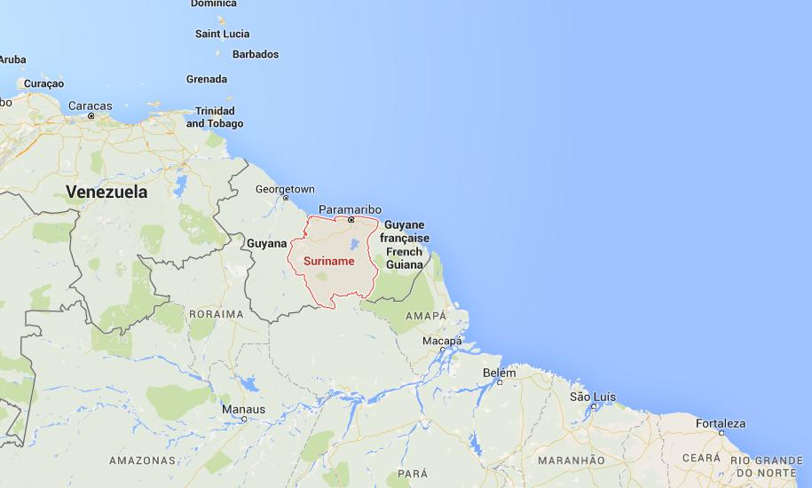 Suriname op de kaart