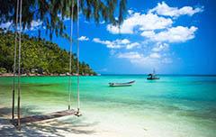 Het prachtige tropische strand