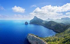 Een mooi uitzicht over de kust van Mallorca