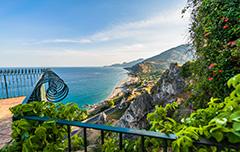 De kust van Italie