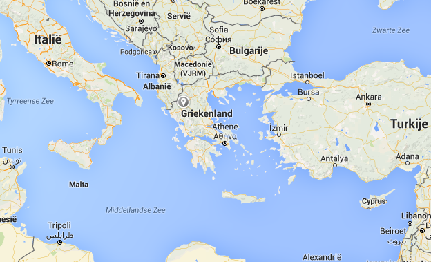 Griekenland kaart map