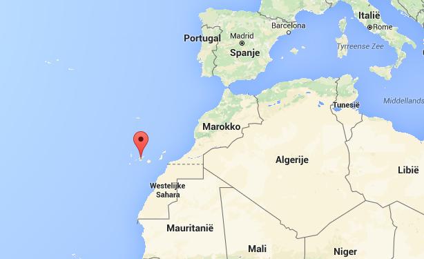 De ligging van de Canarische Eilanden